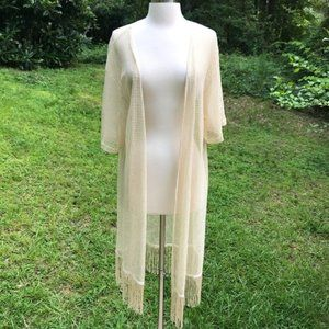 J. Francis Collection Fringe Duster Cardigan